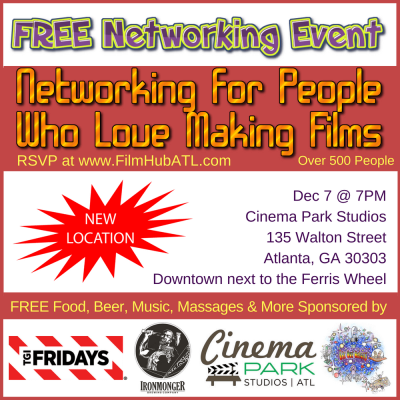 FilmHubATL - Networking Event Cinema Park Studios