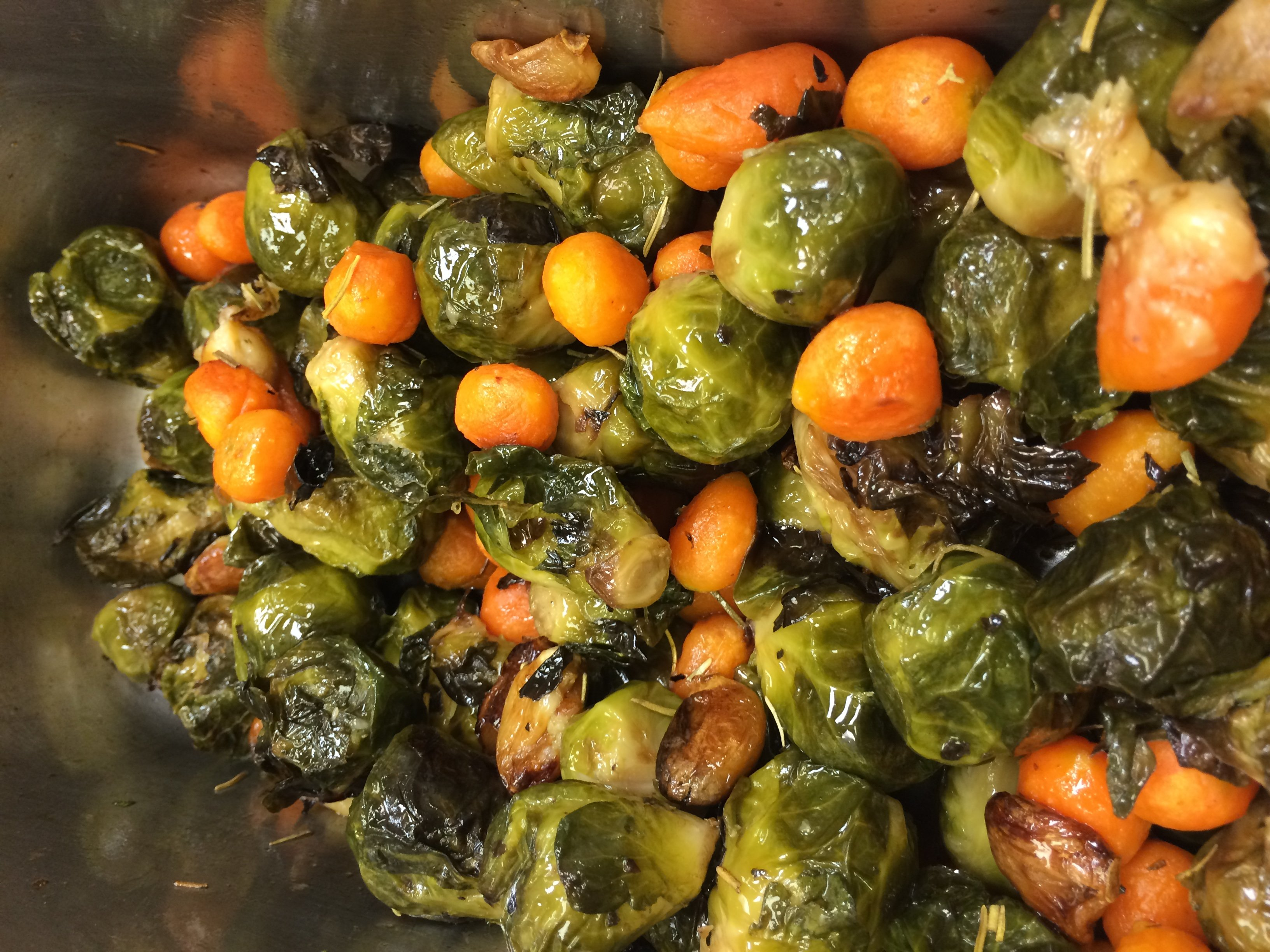 Brussel Sprouts with Parisian Carrots